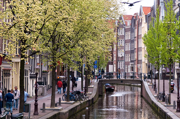 The city of Amsterdam, The Netherlands