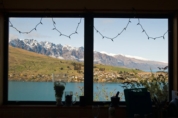 Queenstown window view