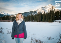 Anne Marie by the Bow River in Banff