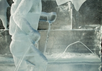 Ice Sculpture in Banff Park