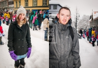 Anne Marie and Daniel in Lillehammer for the 20th Anniversary Parade