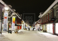 Storgata at night, Lillehammer