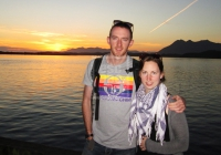 Daniel and Anne Marie at sunset, Tofino