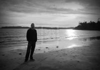 Daniel on the beach, Tofino