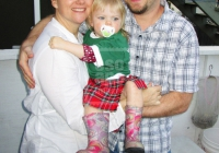 Our host family, Penny, Kayleigh and Scott