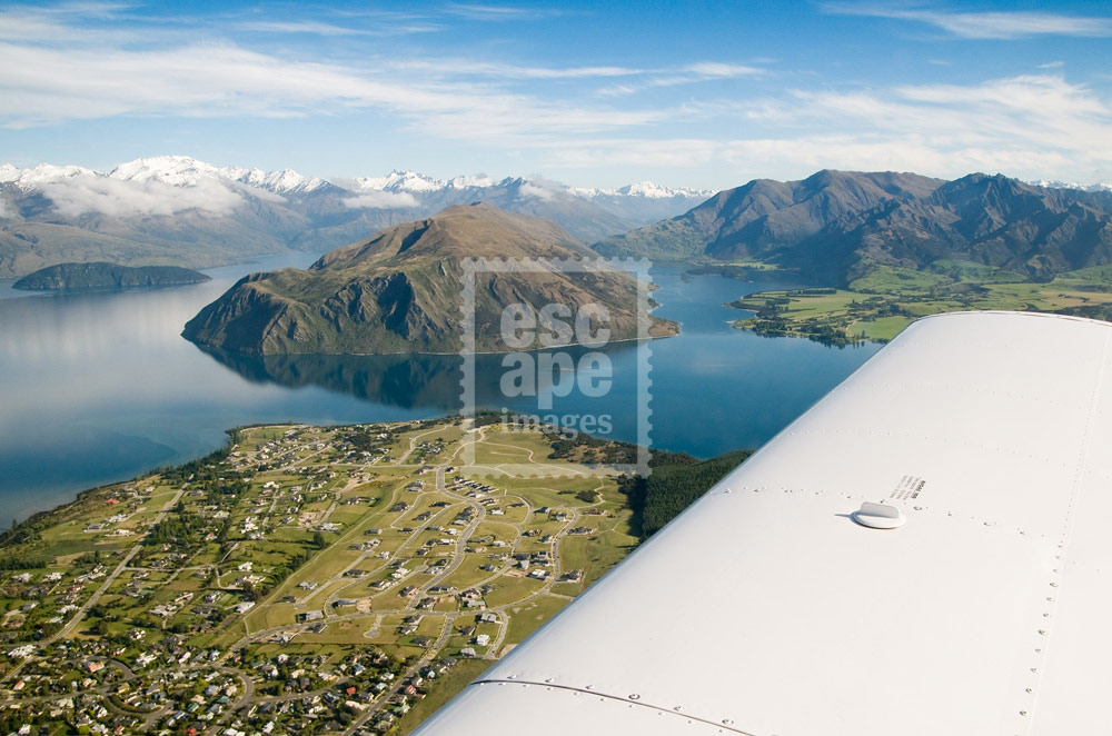 Flying over Wanaka
