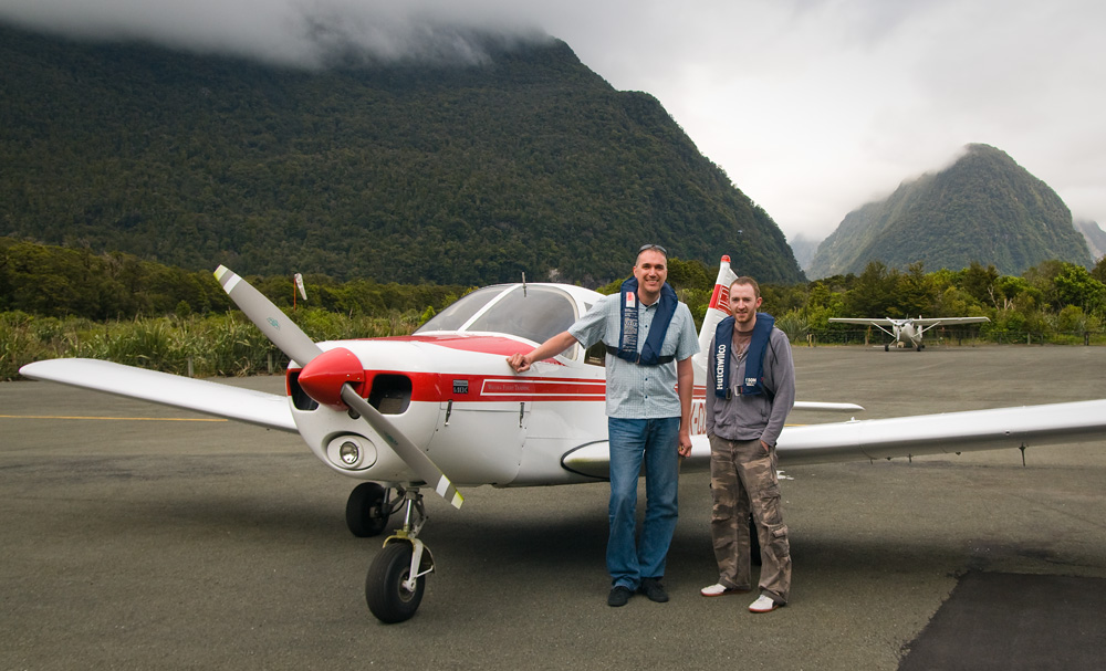 Jon and Daniel at Wanaka Airport