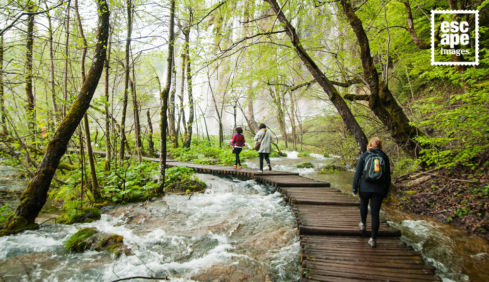 Walking the boardwalk trails of Plitvice Lakes